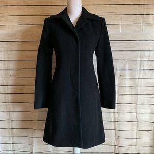 Jones New York Black Petite Pea Coat Size 0